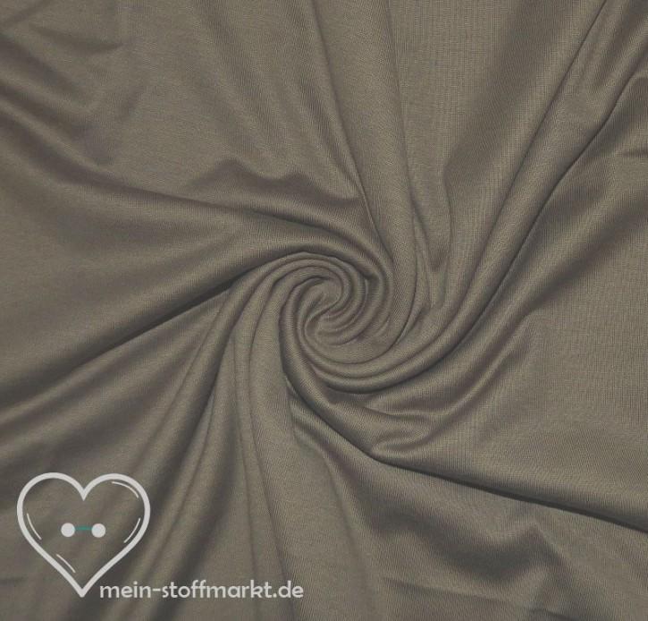 Singlejersey 100% Baumwolle  135g/m² Braun 0,25m (146000)
