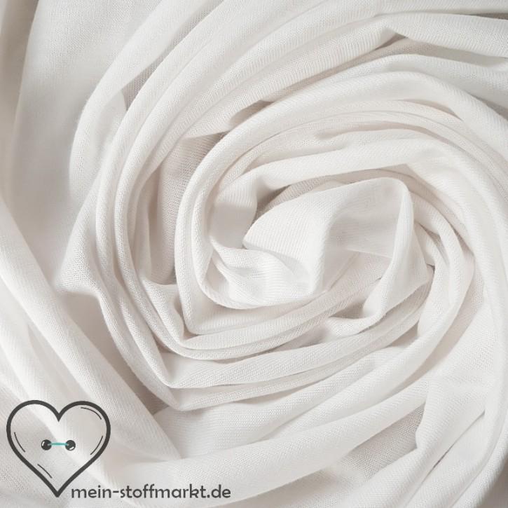 Singlejersey 100% Baumwolle  135g/m² Weiß 0,25m (146000)