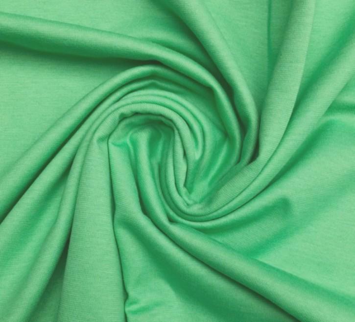 Singlejersey 100% Baumwolle  110g/m² grün 0,25m (150153)