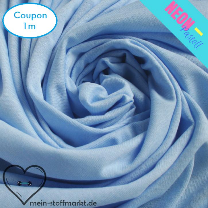 Singlejersey Neonpastell 190g/m² Blau Coupon 1m (212049)
