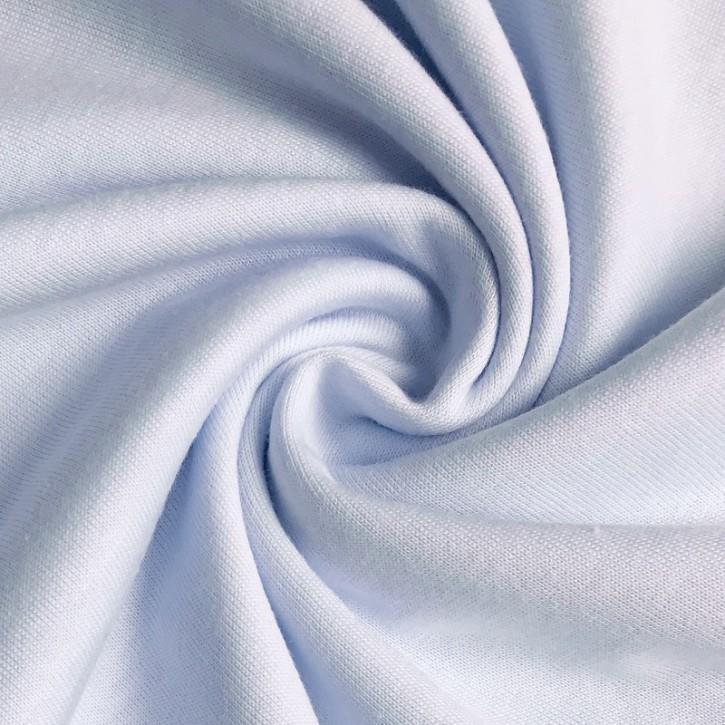 Singlejersey Baumwolle/Modal 130g/m² Babyblau 0,25m (242000)
