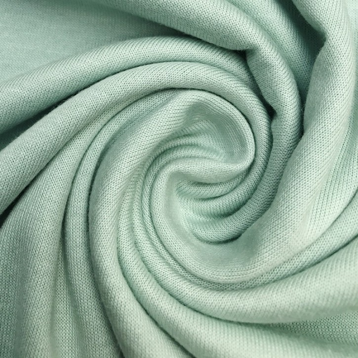 Singlejersey Baumwolle/Modal 130g/m² Pastellgrün 0,25m (242000)