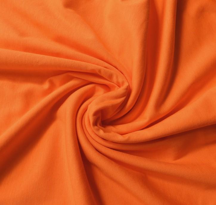 Baumwolljersey mit Elastan 145g/m² Orange 0,25m (258014)