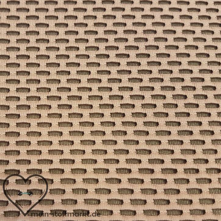Jacquard Mesh mit Elastan 160g/m² Rosa/Grau 0,25m (312001)