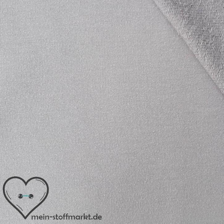 Sommersweat Baumwolle/PES/Elastan 270g/m² Hellgrau 0,25m (351010)