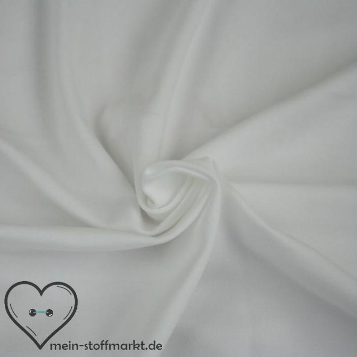 Baumwolljersey mit Elastan 155g/m² Weiß 0,25m (358000)