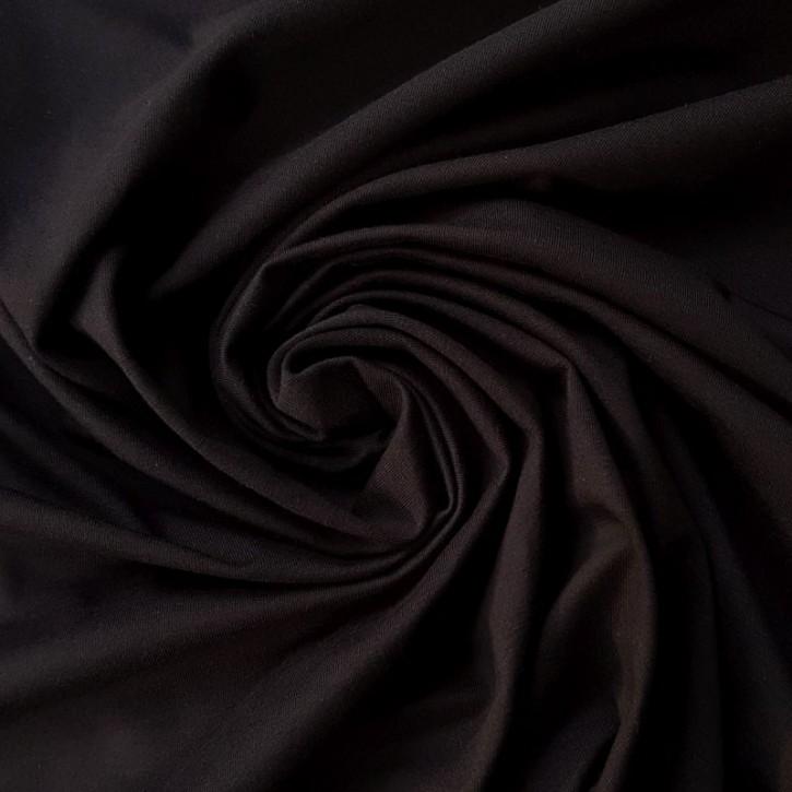 Singlejersey 100% Baumwolle  135g/m² Schwarz 0,25m (146000)