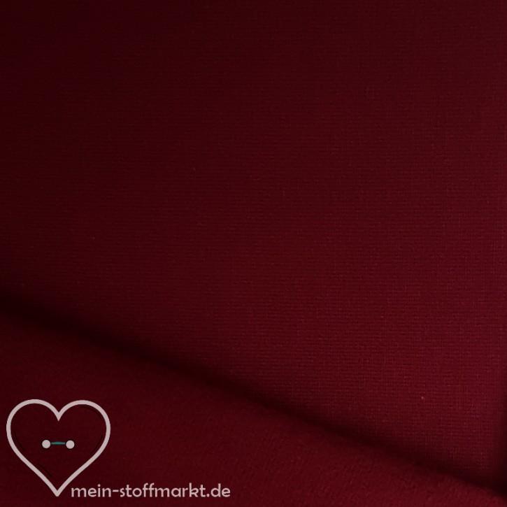Sweat geraut Baumwolle/Elastan 225g/m² Bordeaux 0,25m (358115)
