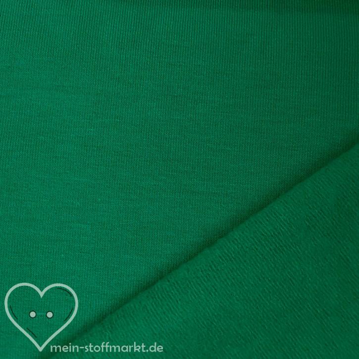 Sweat geraut Baumwolle/Elastan 225g/m² Grün 0,25m (358115)