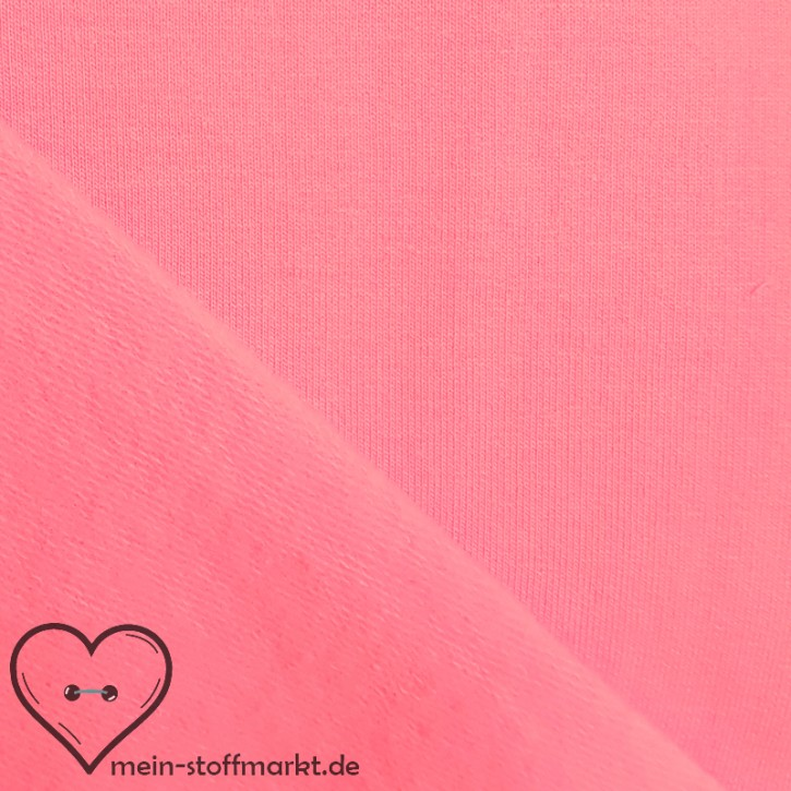 Sweat geraut Baumwolle/Elastan 225g/m² Rosa 0,25m (358115)
