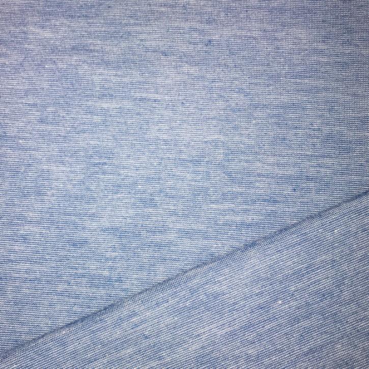 Singlejersey Viskose/Schurwolle/Elastan 173g/m² Blau melange 0,25m (364029)