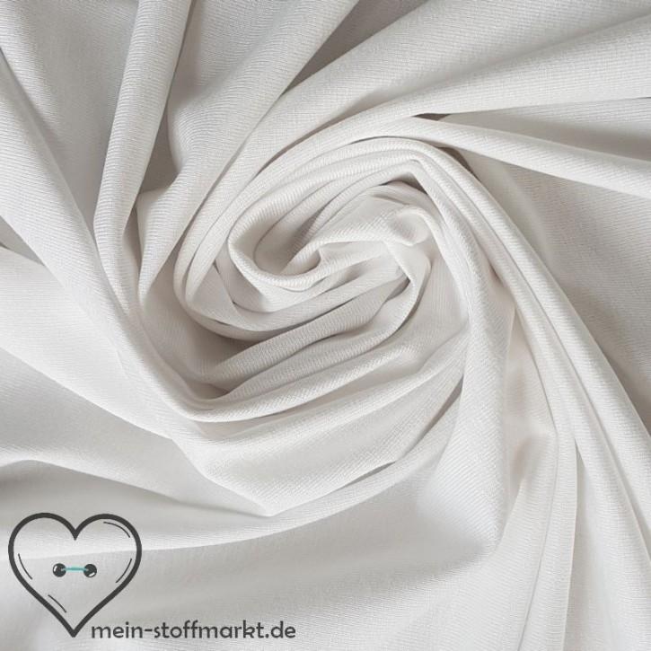 Viskosejersey mit Elastan 230g/m² Weiß 0,25m (368009)