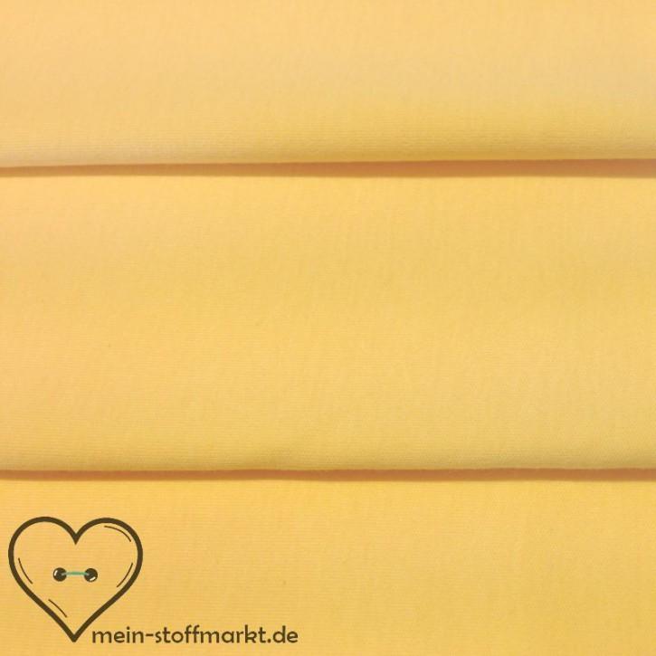 Baumwollinterlock 143g/m² Hellgelb 0,25m (450029)