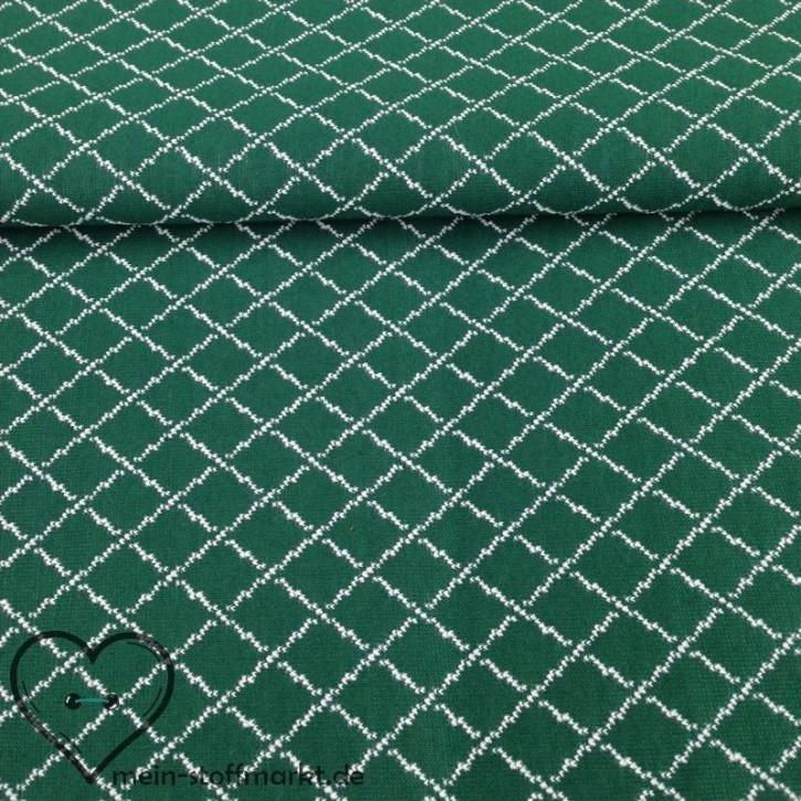 Steppkaro Baumwolle Polyester Grün/Weiß 0,25m (851018)