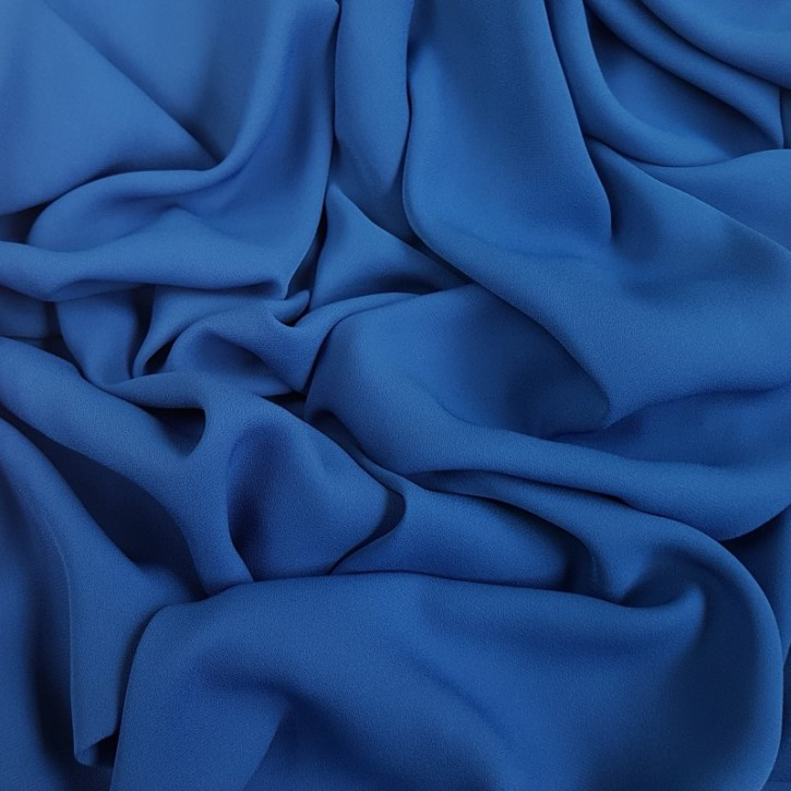 Blusenstoff Georgette Mittelblau 0,25m (910001)