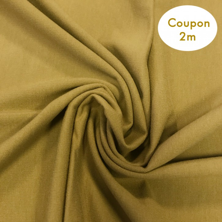 Sweat ungeraut Baumwolle/PES/Elastan 325g/m² Khaki Coupon 2m (351010)