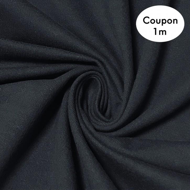 Sweat ungeraut Baumwolle/Elastan 300g/m² Marine Coupon 1m (358119)
