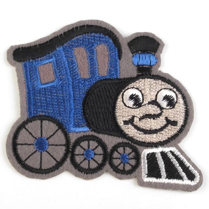 Aufbügler Lokomotive Blau