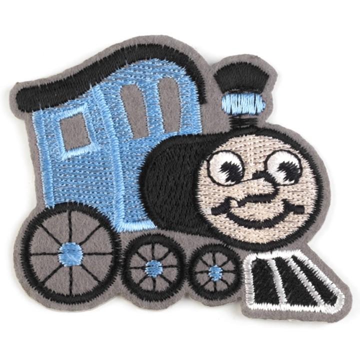 Aufbügler Lokomotive Hellblau