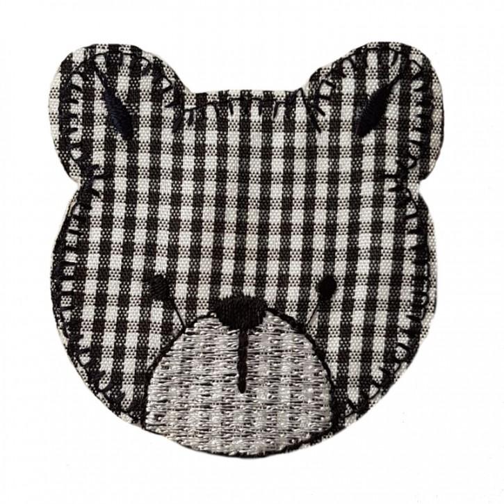 Aufbügler Bär Schwarz