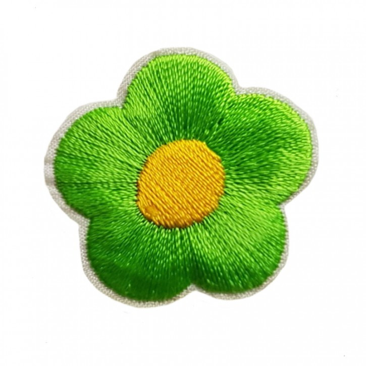 Aufbügler Blume Hellgrün