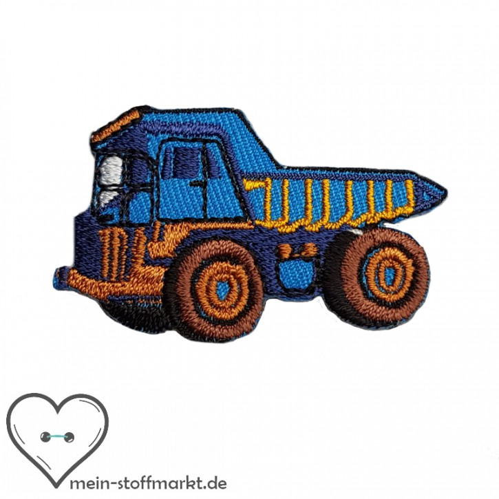 Aufbügler Laster Blau