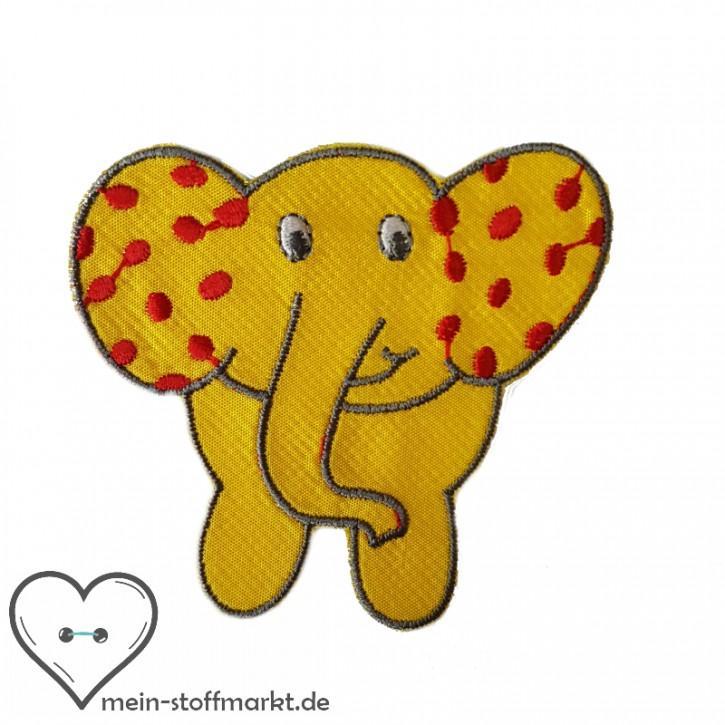 Aufnäher Patch Elefant Gelb