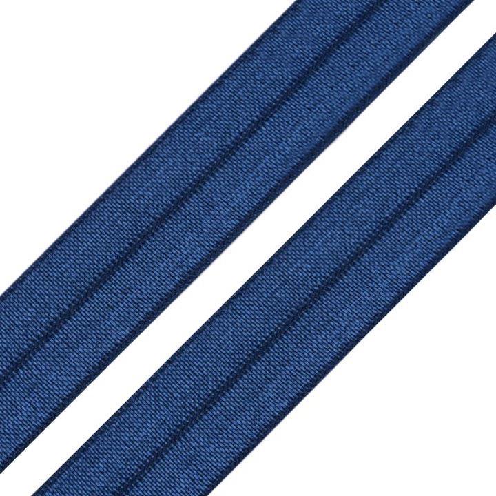 Elastisches Einfassband / Faltgummi Uni Blau 2m