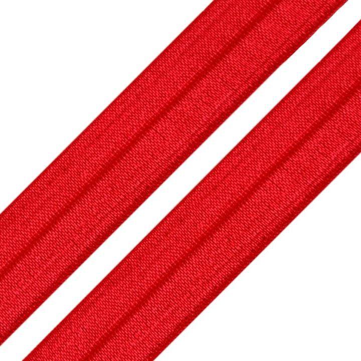 Elastisches Einfassband / Faltgummi Uni Rot 2m