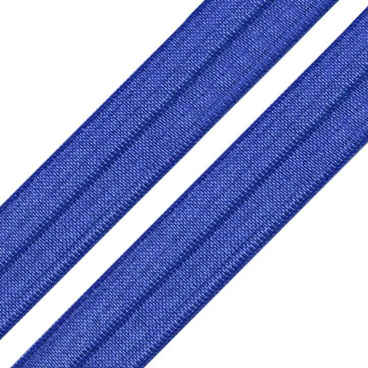 Elastisches Einfassband / Faltgummi Uni Royalblau 2m