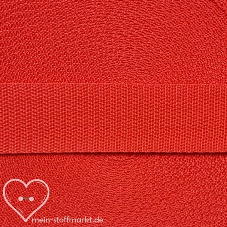 Gurtband Fiery Red 30mm x 2m