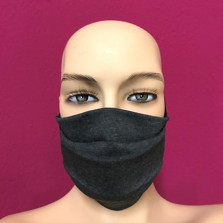 Stoffmaske mit Gummiband Anthrazit