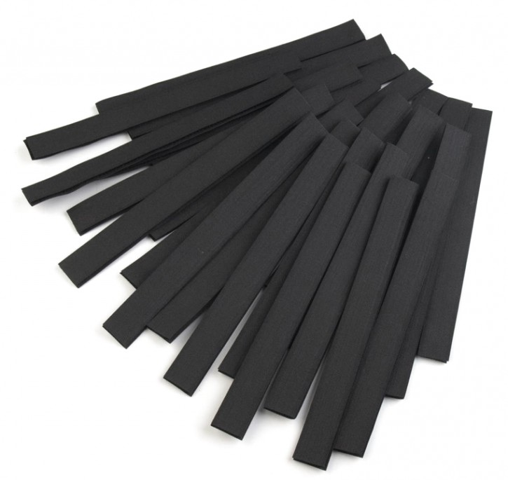 Klettverschluss 2x20cm Schwarz