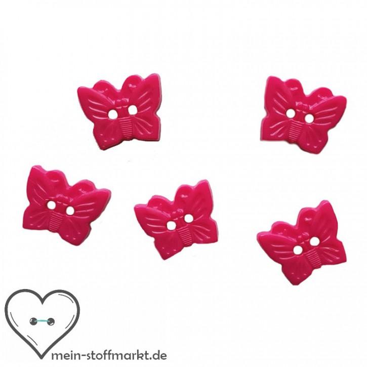 "Knöpfe ""Schmetterling"" 15mm Set 5er Pink"