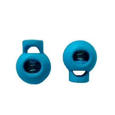Kordelstopper 2er Set 15x19 mm Mittelblau