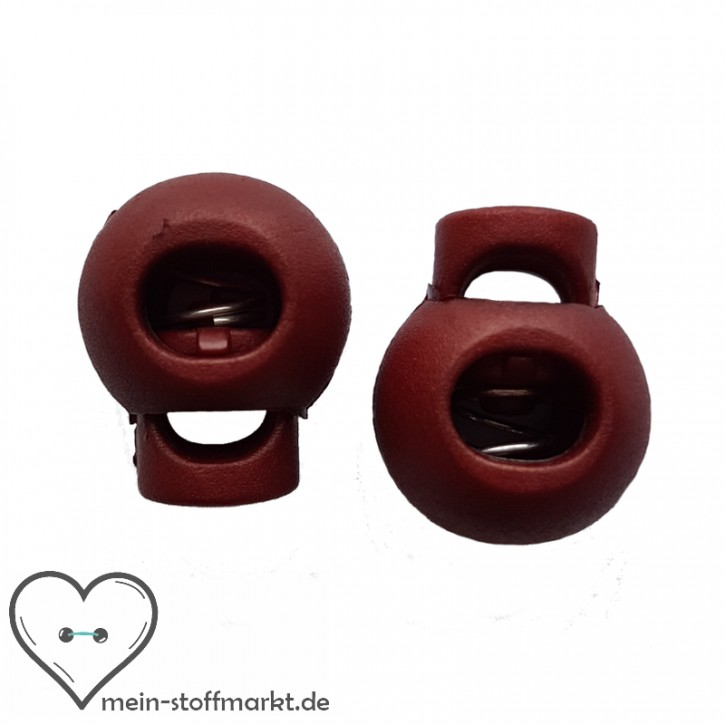 Kordelstopper 2er Set 15x19 mm Bordeaux