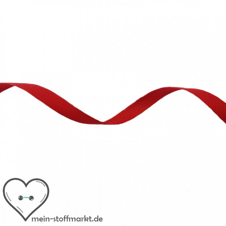 Köperband Rot 10mm 2m