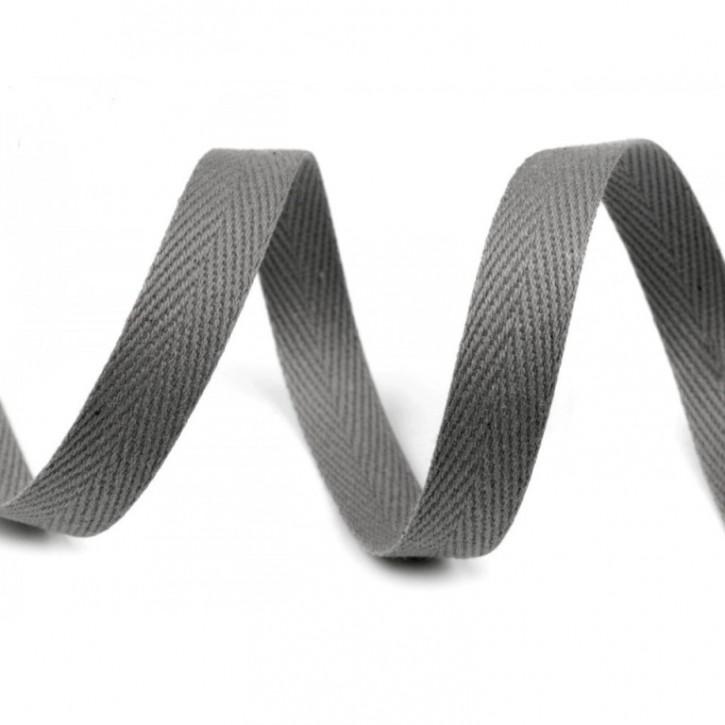Köperband Grau 10mm 2m