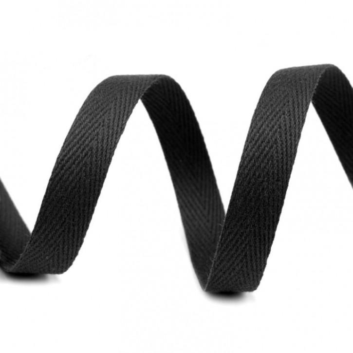 Köperband Schwarz 10mm 2m