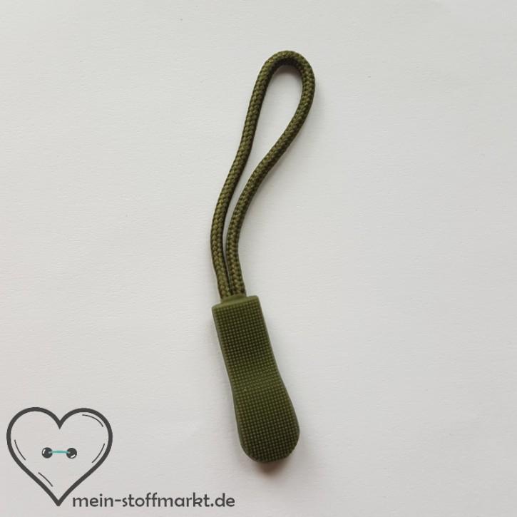 Zipper Reißverschluss-Anhänger Oliv