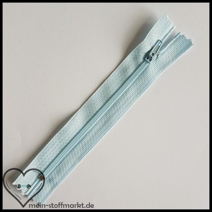 Reißverschluss nicht teilbar 12cm Hellblau