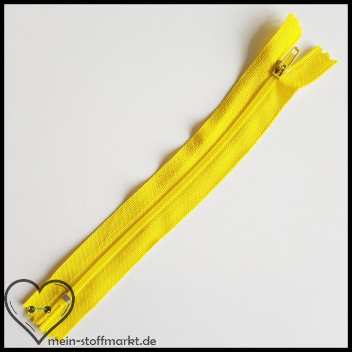 Reißverschluss nicht teilbar 16cm Gelb