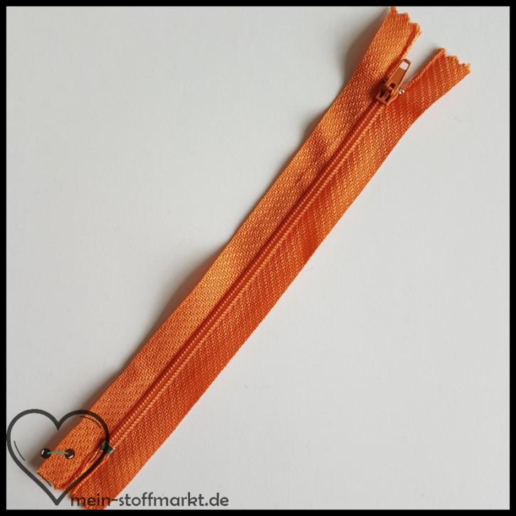 Reißverschluss nicht teilbar 16cm Orange