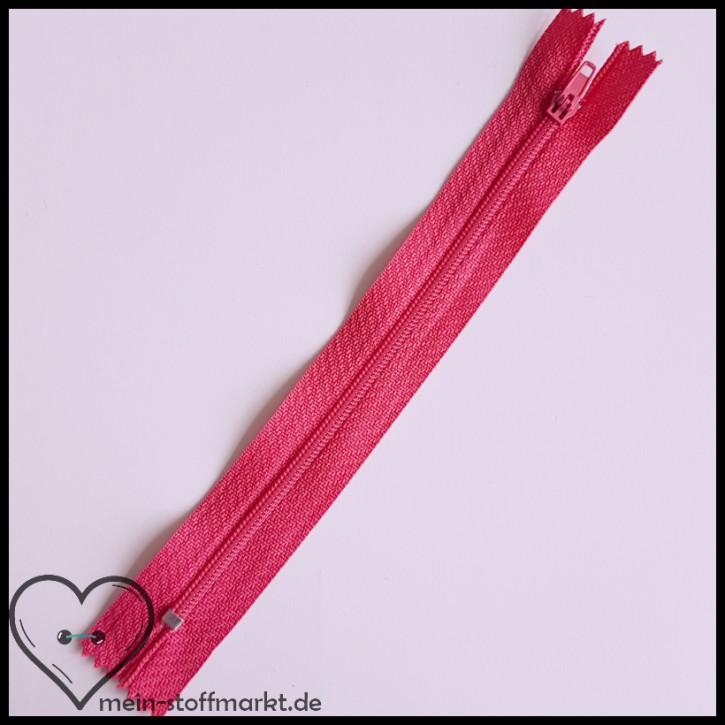 Reißverschluss nicht teilbar 16cm Pink