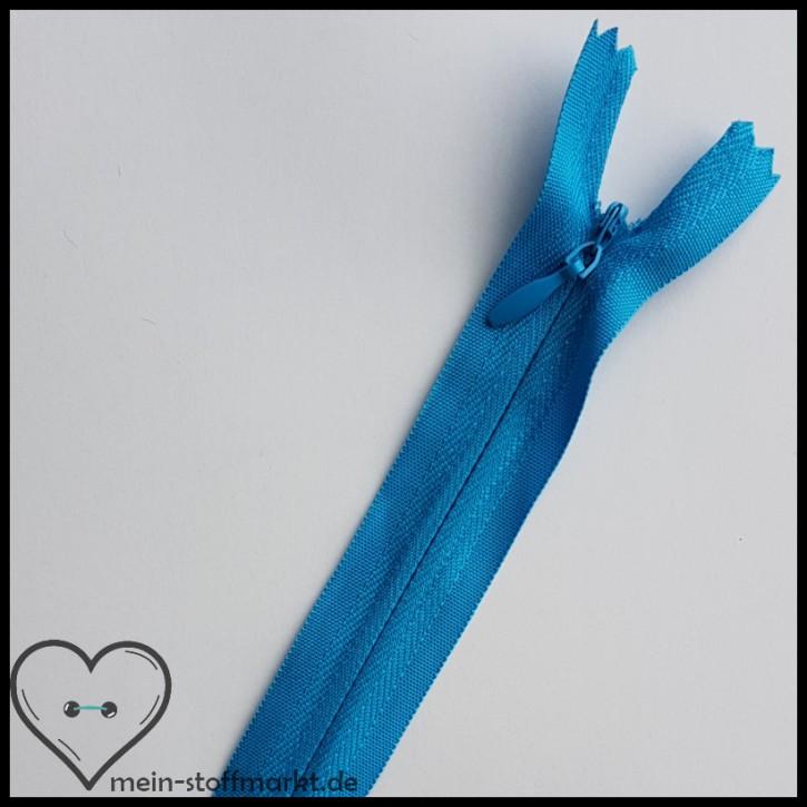 Reißverschluss verdeckt nicht teilbar 40cm Hellblau