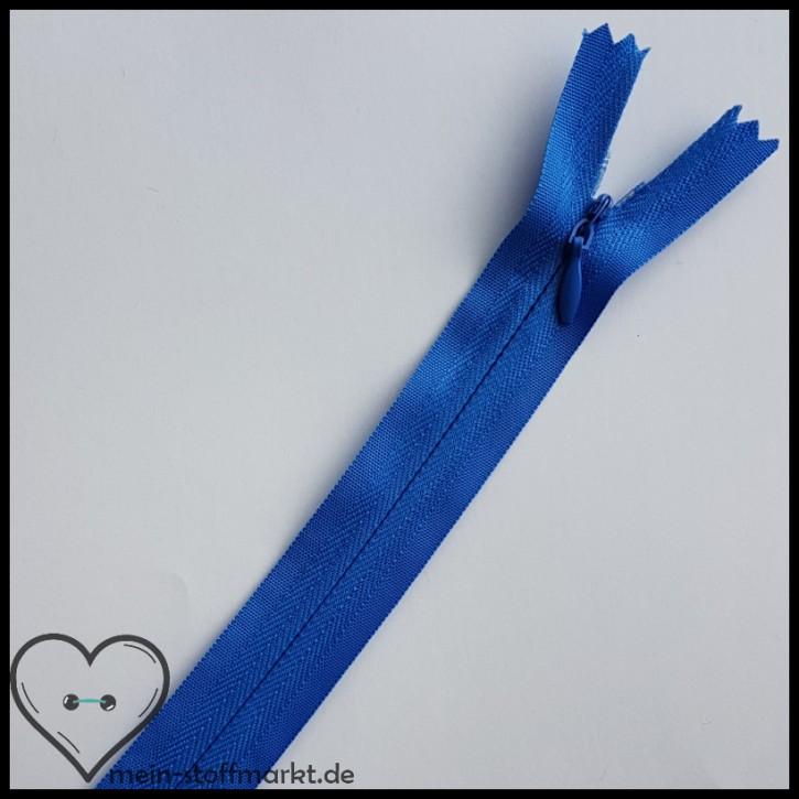 Reißverschluss verdeckt nicht teilbar 40cm Mittelblau