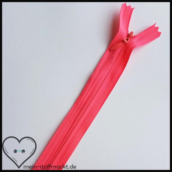 Reißverschluss verdeckt nicht teilbar 40cm Pink