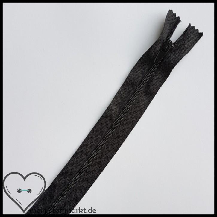 Reißverschluss nicht teilbar 40cm Schwarz