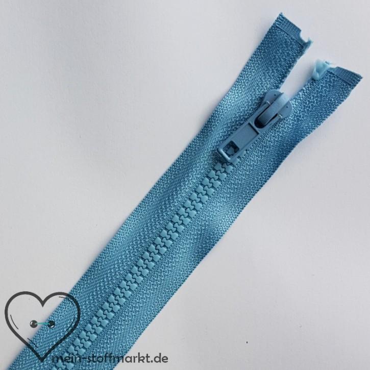 Reißverschluss teilbar 65cm Mittelblau
