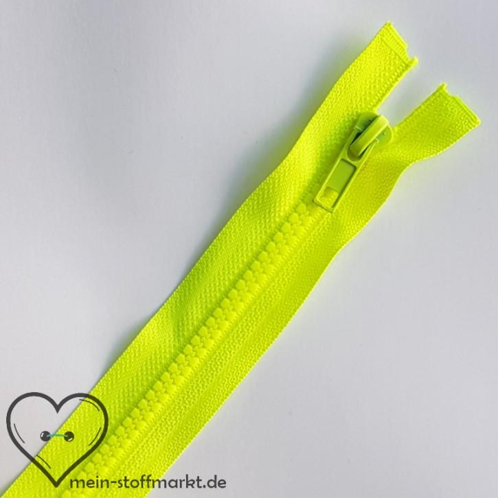 Reißverschluss teilbar 65cm Neongelb